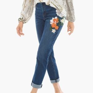 Chico's Botanical Girlfriend Jeans